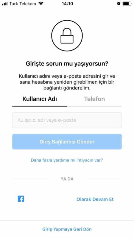 instagram şifre 2