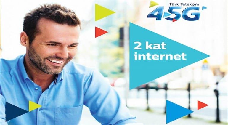 Türk Telekom 4.5G X 2 İnternet Kampanyası 2021