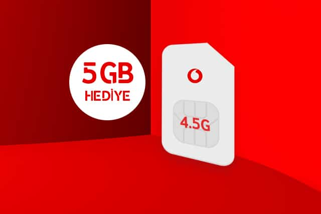 Vodafone 4.5G SIM Kampanyası 2021