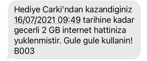 Hediye Çarkı Vodafone Bedava İnternet